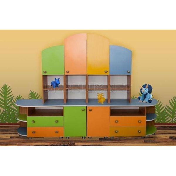 Стенка для игрушек 4 - мебель для яслей, детских садов и дош.